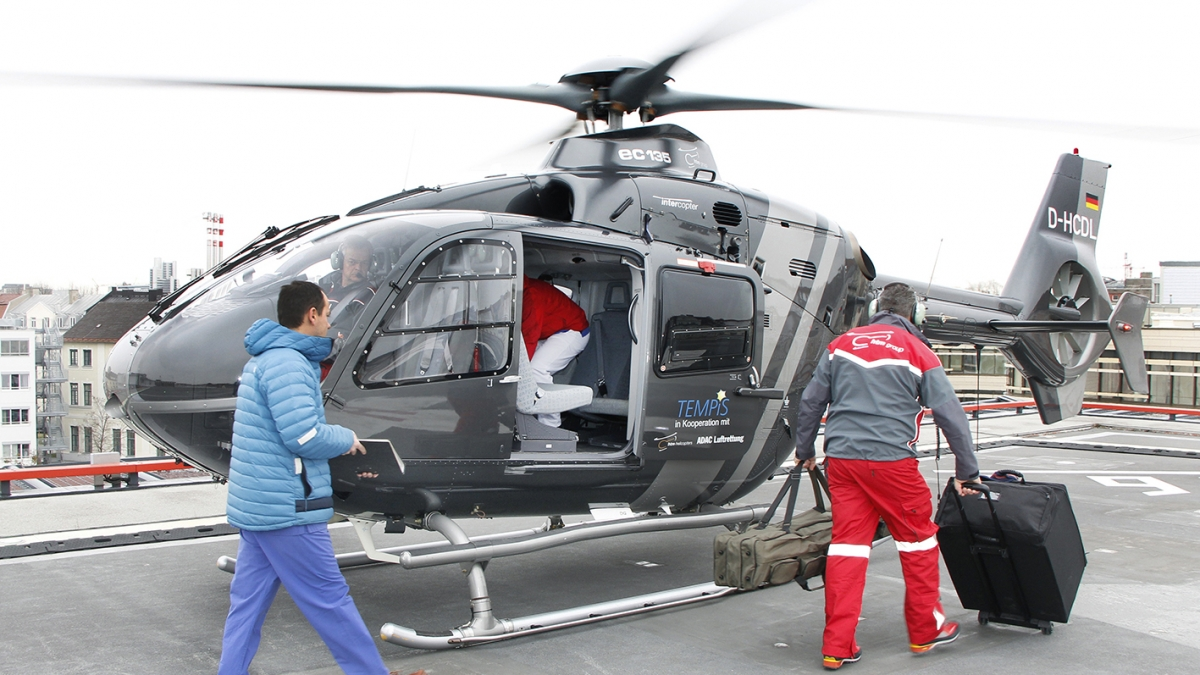 Hubschrauber bringt Schlaganfall-Spezialisten zum Notfall