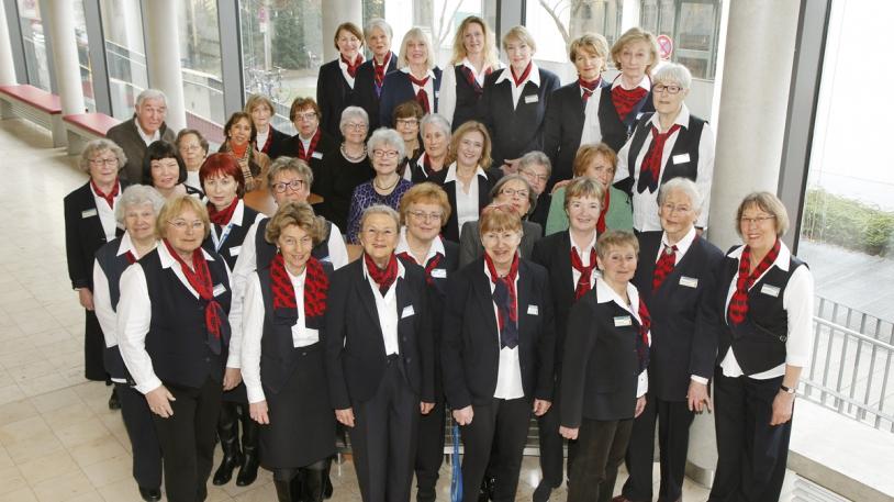 Gruppenfoto der Grünen Damen