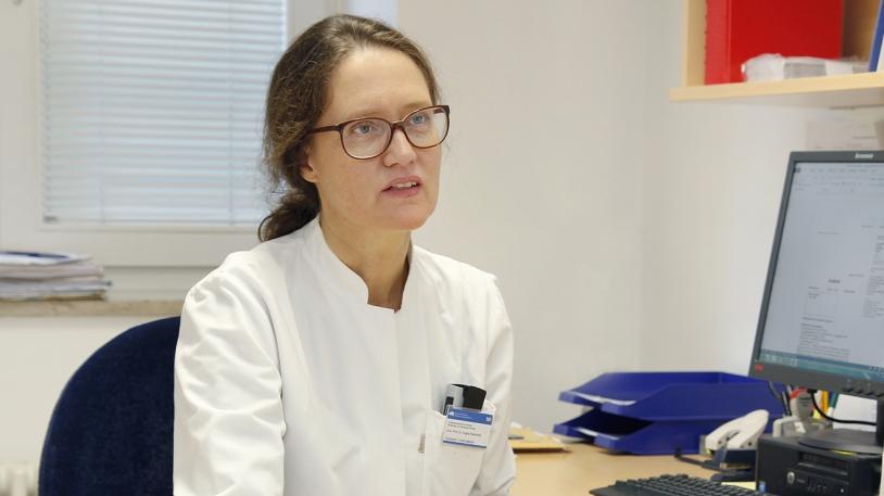 Prof. Angela Krackhardt, Krebsspezialistin am Klinikum rechts der Isar