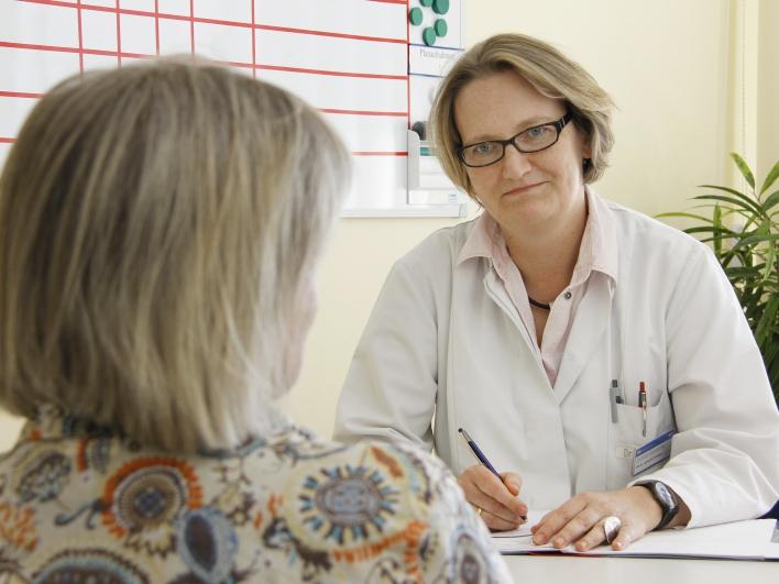 Gesprächstherapie mit Ärztin