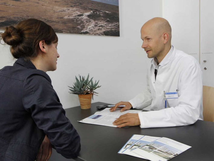 Beratungsgespräch Patientin