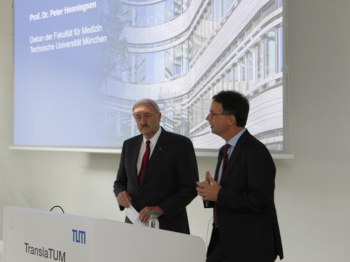 Prof. Schwaiger und Prof. Henningsen