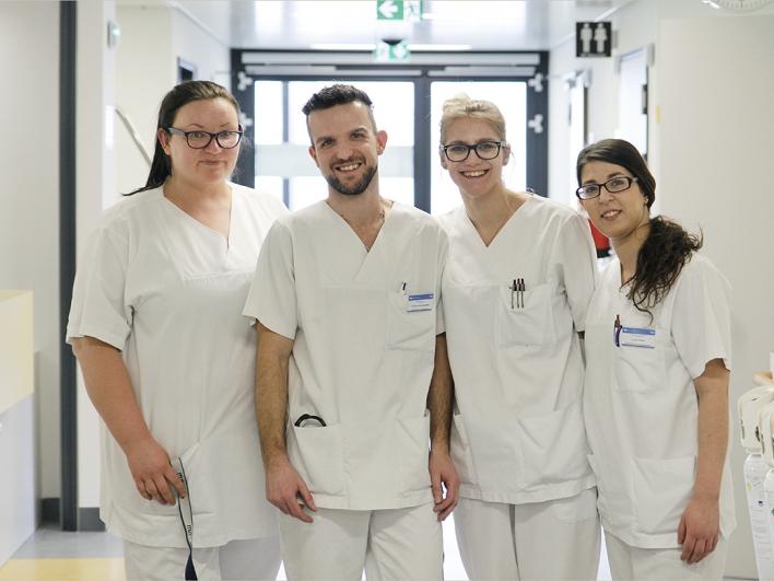 Pflegeteam auf der Station der Gefäßchirurgie