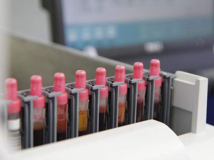 Im dermatologischen Labor