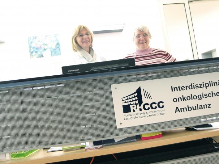 Empfang der interdisziplinären onkologischen Ambulanz