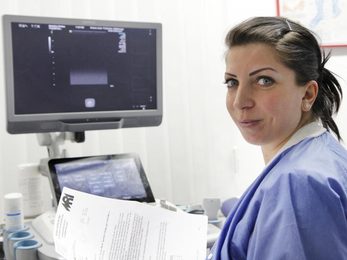 Monitor in der Ambulanz