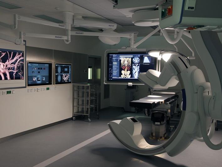 Gefäßchirurgischer Hybrid-OP mit Angiographie