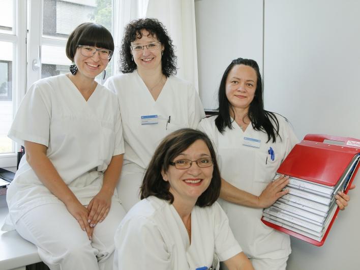 Krankenpflege Team in der Augenklinik