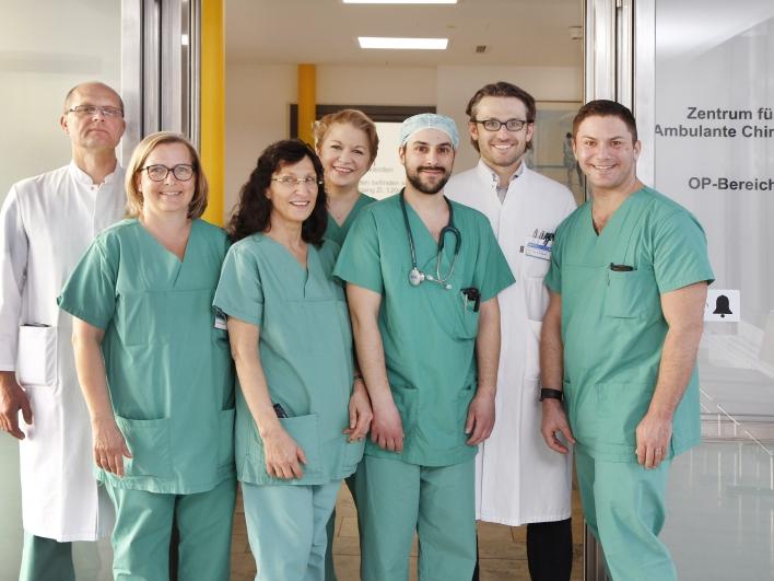 Das Team im Zentrum für ambulante Operationen