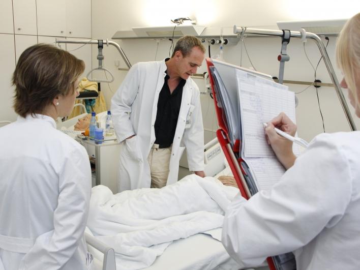Visite Ärzte- und Schwesternteam